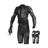 Wosawe Motorcycle Body Armor Suit Motorcycle Jacket+Shorts+ Gloves+Knee Pads Cycling Clothing