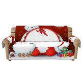 Tapete de sofá de Natal de 1/2/3 lugares para sofá impresso em 3D, capa protetora de cadeira, decoração de móveis de escritório doméstico
