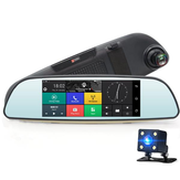 JUNSUN E515 Dual Lens GPS FHD 1080P DVR Rearview Camera Night Vision Loop Cyclus Recording