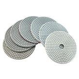 7 pezzi 5 Pollici Disco abrasivo per levigatura diamantata grana 50-3000 50-3000 per vetro granito cemento marmo