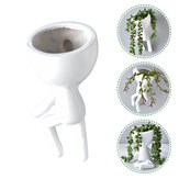 Nordic Home Hanging Art Blumentopf White Resin Art Vase Flower Planter Wandskulptur Plant Pot Home Decor