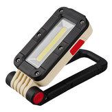 SUNREI V380 COB+LED LED Work Light USB Rechargeable EDC Flashlight 180° Folding Magnetic Tail Noctilucent