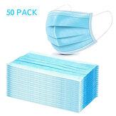 50 szt. Jednorazowa medyczna maska na usta 3-warstwowe maski respiratora Odporne na kurz osobistą ochronę