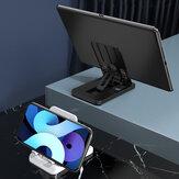 KAKU Folding ABS Desktop-Halter Mehrwinkelverstellbare Handy-Tablet-Ständerhalterung für Samsung Galaxy S21 POCO M3