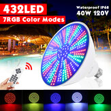 423LED 40W Color Change LED Swimming Pool Light Underwater Light RGB Remote Control Fixture Light Bulb Pentair Hayward