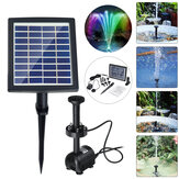 Solar Powered LED Colorful Light Fountain Water Pump Floating Garden Pond Pool Fish Bird Bath