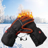 Winter Electric Heated Gloves Touch Screen 3 Model Adjust Thermal Hand Warmer Battery Powered Motorcycle Racing Skiing Gloves