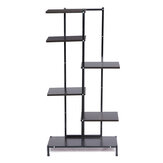 5-Tier Wood Shelf Flower Pot Plant File Stand Rack Bookshelf Indoor