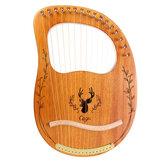 Harpa de mogno portátil CEGA 16 Tone Lyar