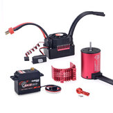 SURPASS HOBBY KK 3650 Brushless Motor 3100KV 45A Brushless ESC 6KG Metal Gear Servo For 1/10 RC Car