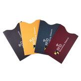 5 pcs Anti Vol Antimagnétique pour RFID Protecteur de Carte de Crédit Blocage Titulaire de la Carte Sleeve Peau Etui Couvre Protection Carte de Banque Cas Nouveau