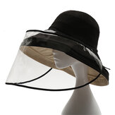 1PC PVC Transparent Mask Full Face Cover Dustproof Splash-proof Hat Protective Shade