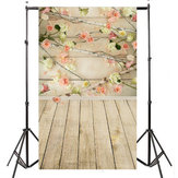 3x5ft Vinyl Wooden Floor Flower Backdrops Photography Studio Props Background