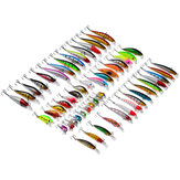 ZANLURE Lotto 56 Mixed Minnow TORCIA Lures Basse Baits Crankbaits Sharp Hooks Set di Tackle