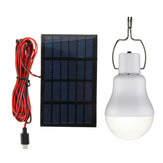 5V 1W Solar Panel Powered LED Bulb Light Portable Outdoor Camping Tent Energy Lamp