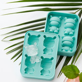 MITU 2Pcs/Set Rabbit Shape Ice Cube Silicone Ice Mold Ice Chocolate Jelly Tray Maker DIY Food Tools Gift