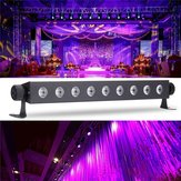 9x3W UV LED Bar Light Blacklight DJ Club Party Decoração de parede de Halloween AC100-240V