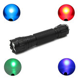 XANES 501B R5 Blue Light / Q5 Red Light / R5 Green Light / UV Purple Light Functional EDC Flashlight Hunting Ricerca rilevamento di fluorescenza