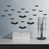 Creative Halloween Haunted House Glass Bat Wall Stickers Background Decoration Sticker Wall Art