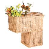 Wierzba Tkany koszyk Pudełko z trawy morskiej Kosz na bieliznę Uchwyt na pranie Organizator domowy