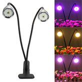 360 ° LED Grow Light Planta Growing Lámpara 3 modos de temporizador y clip para interiores Plantas
