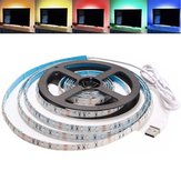 2M Waterproof USB SMD3528 TV Background Computer LED Strip Tape Flexible Light DC5V
