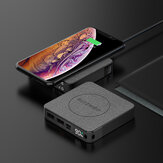 BlitzWolf® BW-P13 LED Display 10000mAh Power Bank QC3.0 & PD3.0 18W+15W Wireless Charger Fabric Surface Multilayered Protection Power Bank for iPhone 12 12 Mini 12 Pro Max for Samsung S20 9T Note10 HUAWEI LG