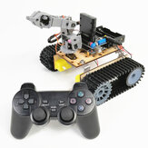 Small Hammer DIY 4DOF RC Robot Arm Tank with PS2 Remote Control