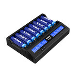 Xtar VC8 8-Channel 21700 LED Smart Charger with LCD Screen For Li-ion NiMH Batteries