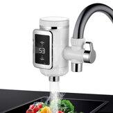 KCASA WF-009 3000 W Mutfak Su Musluk 3 Sn LED Elektrikli Su Isıtma Makinesi Dönebilen Sıcak / Soğuk Su Dokunun Ile Sıcaklık Ekran