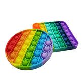 Пузырьковая сенсорная декомпрессионная игрушка палец антистрессовый радужный стиль Soft сжатие забавные образовательные головоломки пода