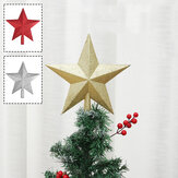 Christmas Tree Top Sparkle Star Glittering Hanging Christmas Tree Topper Decoration Ornaments Home Decor