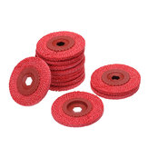 12pcs 4 Inch Red Rough Hemp Rope Abrasive Flap Disc 100x16mm Polishing Wheel