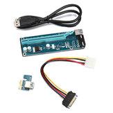 PCIE PCI-E Express 1x A 16x Extender Adaptador de Cartão Riser 15Pin Power USB 3.0 Expansão de Mineração