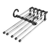 New 5in1 Adjustable Closet Organizer Space-Saver Trousers Pants Rack Hanger Hook