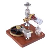 Stirling Engine Model Free Piston Adjustable Speed External Combustion Engine with Horizontal Flywheel Physics Science Toy