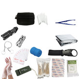 142PCS Emergency Bag Case EHBO-kit Emergency Survival Tools Kit Outdoor Travel Treatment + Storage Bag