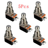 5Pcs Efeito de guitarra elétrica Momentary Push Button Stomp Pedal Switch