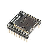 WTV020 Audio Module MP3 Player With MicroSD Card Reader For AVR ARM PIC-MP3 RobotDyn for Arduino - products that work with official Arduino boards