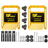 Wnew延長ダブルフェザーボード160mmテーブルソールーターのフェザーボードの安全性を調整テーブルバンドソーTスロットマイタートラック