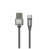 REMAX 2.1A Type-C USB with LED Light Nylon Braided Fast Charging Data Cable for Xiaomi Mi8 Mi9 HUAWEI P30 Pro Oneplus 7 S10 S10+