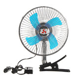 2 In 1 12V Car Clip-on Fan Camping Travel Portable Air Conditioning Fan
