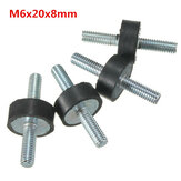 4pcs M6x20x8mm Doubles Ends Rubber Mounts Anti-vibration Rubber Mounts