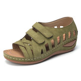 Dames Cross Belt Ademende Pure Color-sandalen