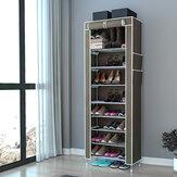 Стойка для обуви 10 ярусов с пылезащитной крышкой Шкаф для хранения обуви Органайзер