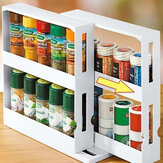 Multi-Function Storage Rack Seasoning Spice Jar Rack Rotating Kitchen Organizer