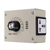 AC 0-220 V 4000 W Ayarlanabilir Gerilim Hız Sıcaklık Dimmer Kontrol Termostat Işık Fan Motor Sönük Için