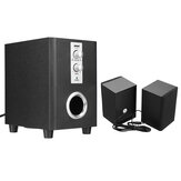 SADA D-200T Home Laptop Audio Multimedia Mini Altavoz USB AUX Audio 2.1 Subwoofer bluetooth5.0 Cableado 3.5mm Madera Negro