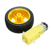 2Pcs/Pack Plastic Tire Wheel With DC 3-6v Gear Motor For  Smart Car