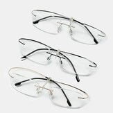 Unisex Cotton Delivery 3 Color Rollable Borderless Reading Glasses